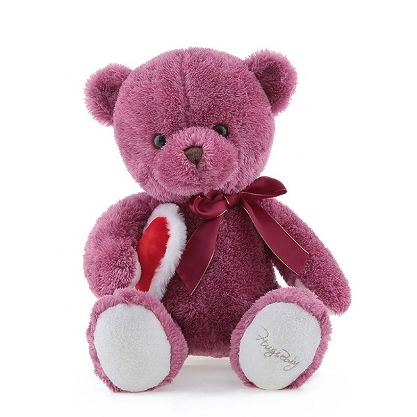 Custom logo cheap small size love smiling teddy bear kids colourful mini personalized teddy bear