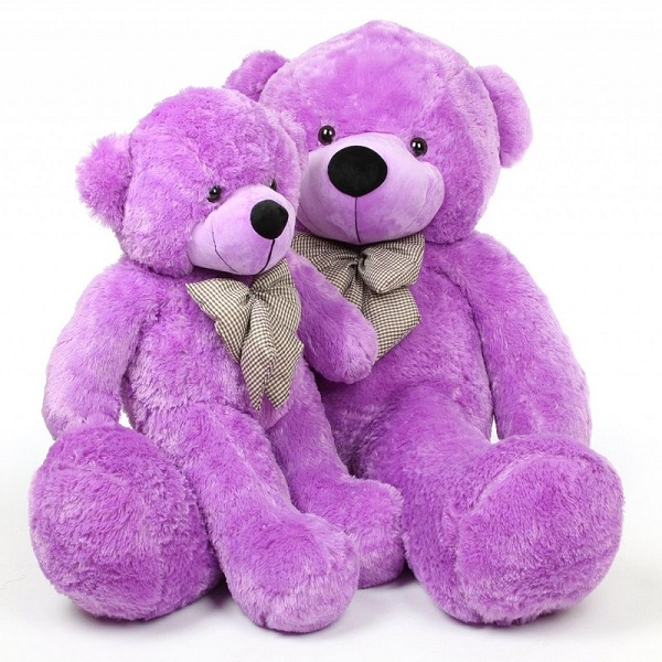 China wholesale customized Purple Violet Plush teddy bear toys