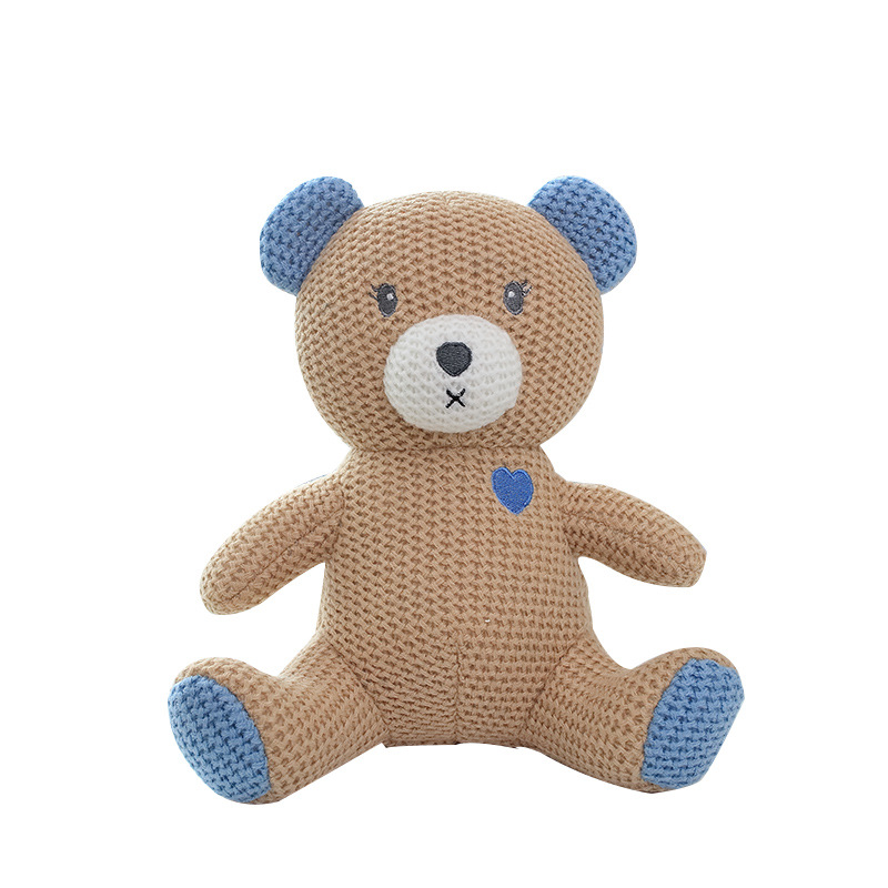 custom handmade cloth doll cotton yarn hand knitting crochet teddy bear