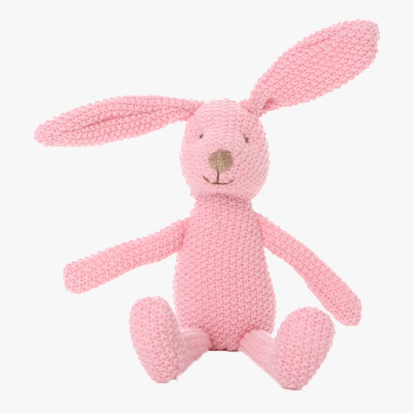 china custom made knitted pink soft bunny toy