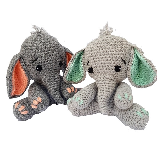 Personalized China handmade knitted Crochet Toy Elephant